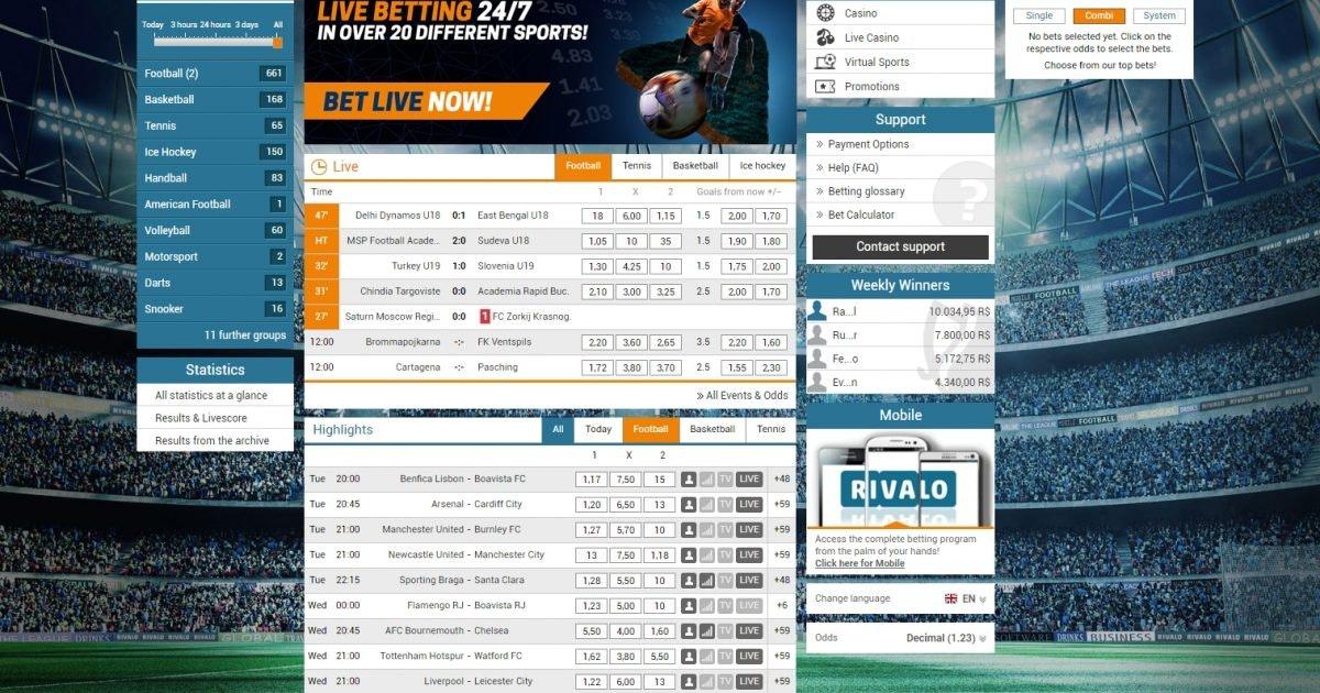 Rivalo bonus online 353658