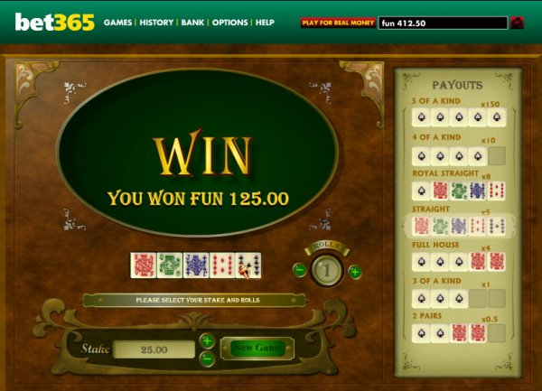 Poker dice open bet 202617