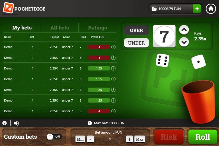 Casinos pocketdice bonus betboo 192950