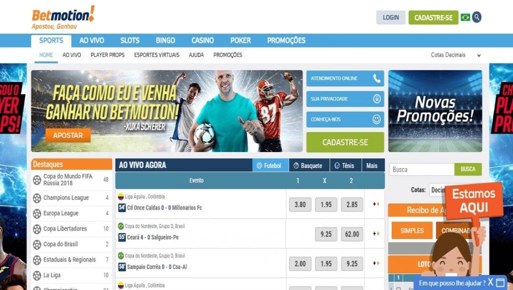 Betmotion login game online 148710