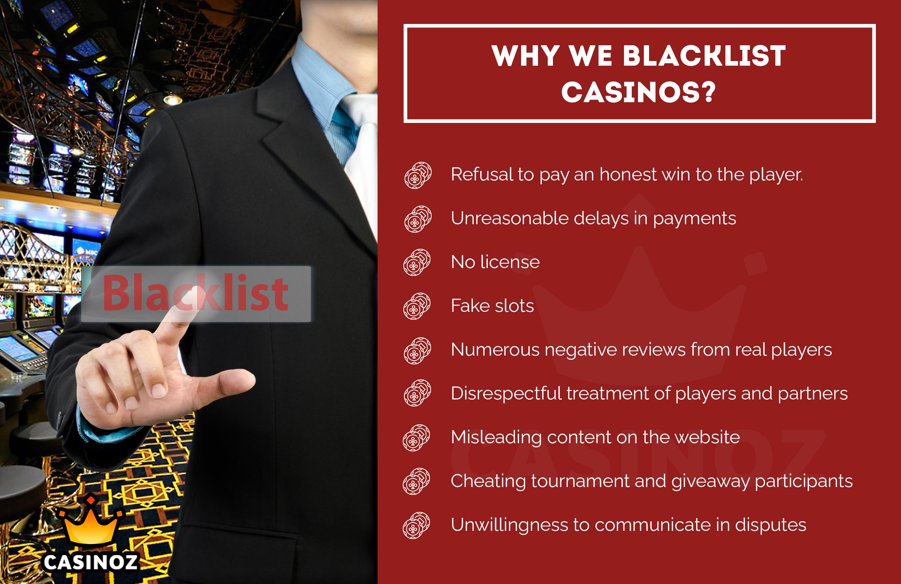 Blacklisted casinos 427325