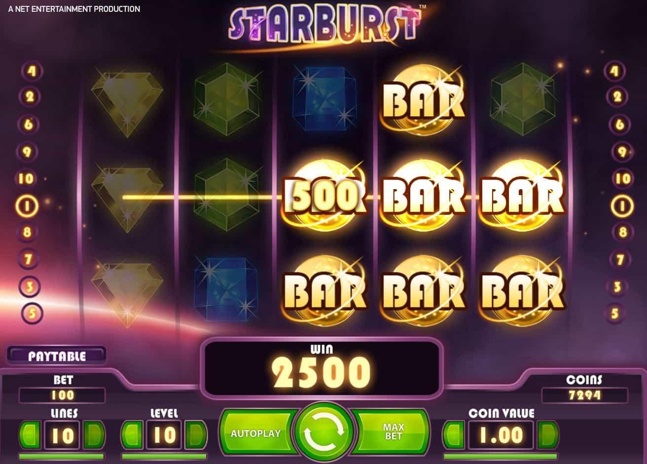 Starburst caça níquel 711223